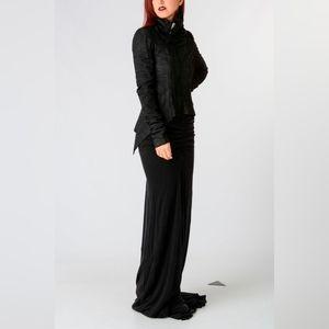 Rick Owens Lilies maxi skirt black BNWT